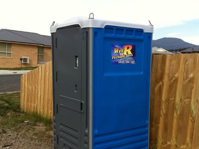 Wee R Portable Loos on a building site