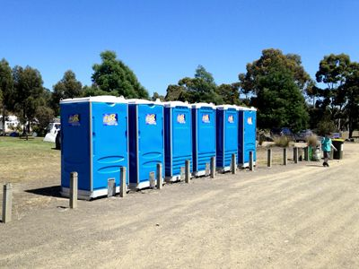 Wee R Portable Loos at a camping ground